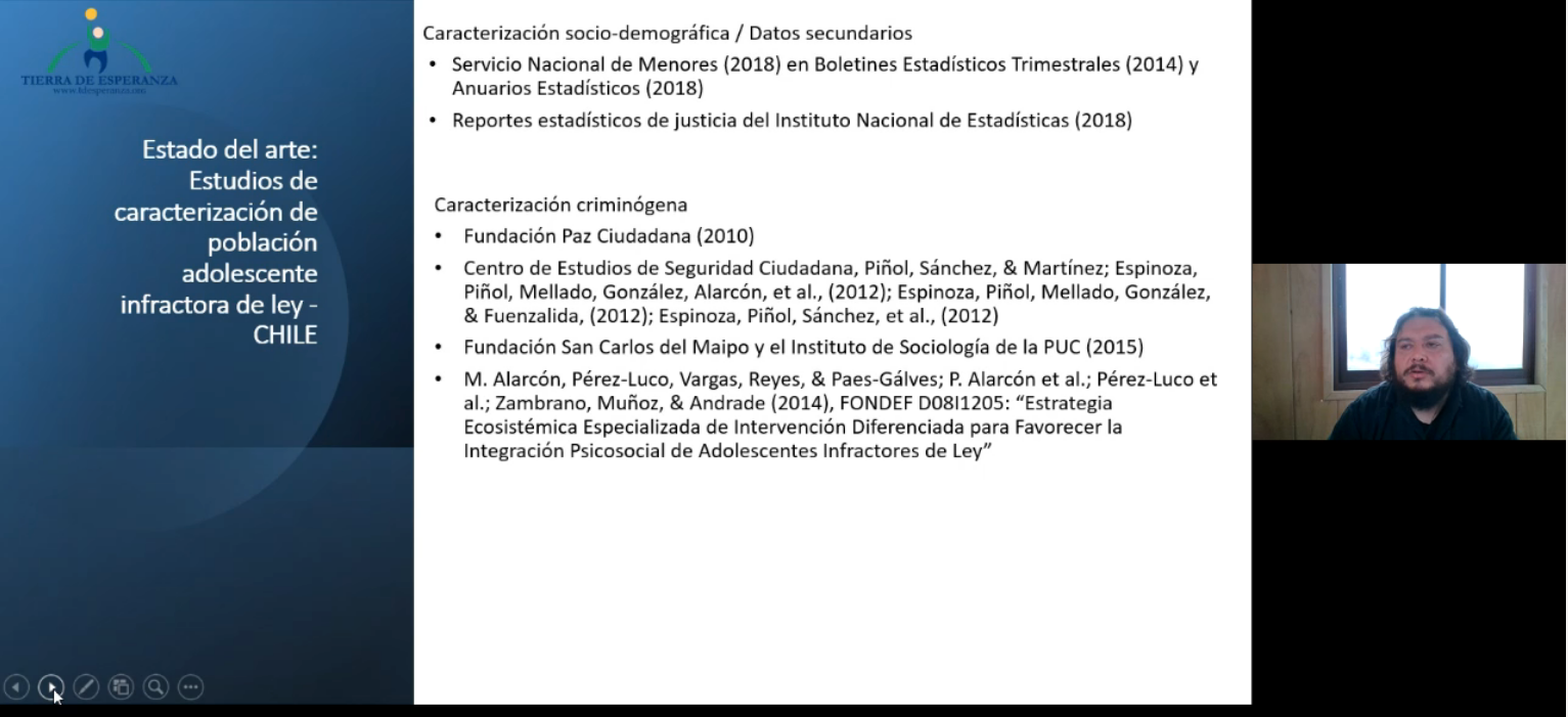 Experiencia de Estudio de Caracterización de Adolescentes Infractores de Ley en Chile realizado por Fundación Tierra de Esperanza fue presentada en Seminario de Revista Señales de SENAME