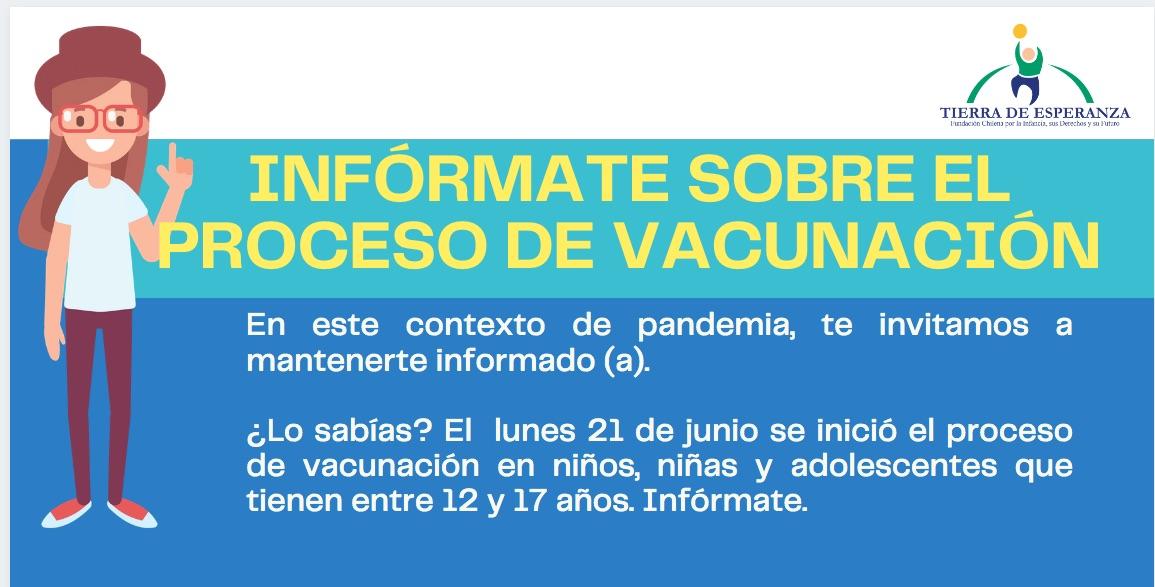Infórmate sobre el proceso de vacunación de los 12 a 17 años de edad.